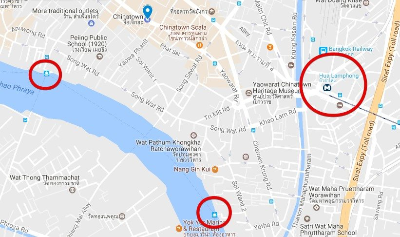 Como llegar a Wat Arun