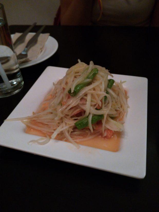 donde comer en bangkok ensalada papaya