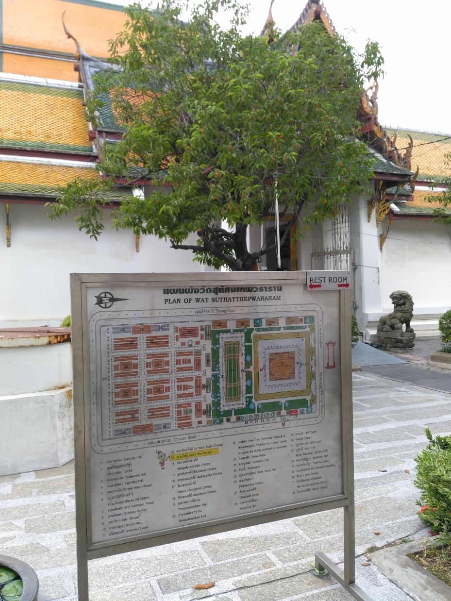 que ver en bangkok Wat Suthata mapa