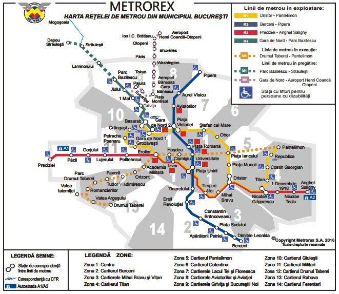 viajar a bucarest mapa metro
