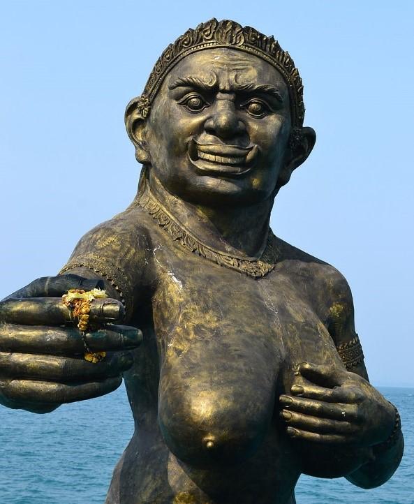 las playas de bangkok koh samet estatua