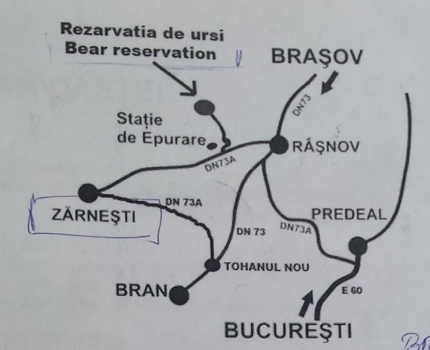 que ver en brasov santuario de osos mapa